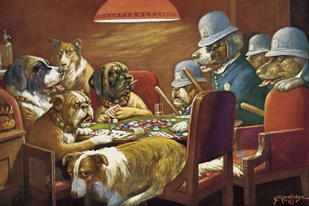 Dogs playing poker wallpaper border best hotel casino in atlantic city nj