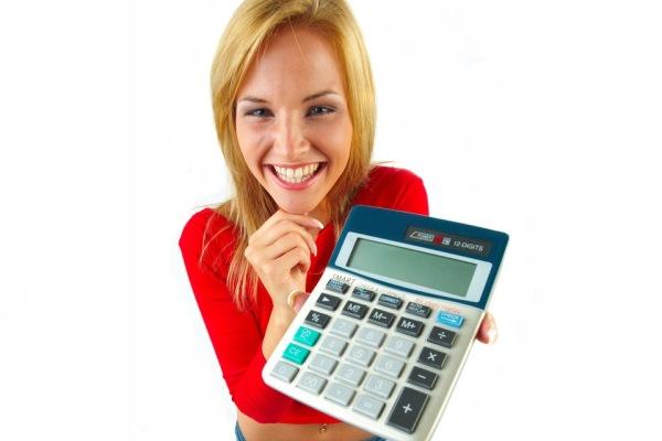 mulher calculadora