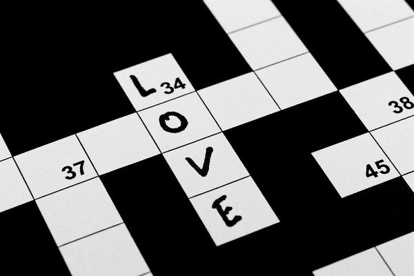 palavra cruzada amor