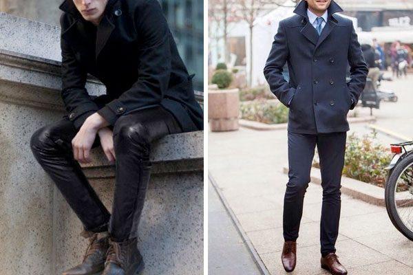 pea coat masculino