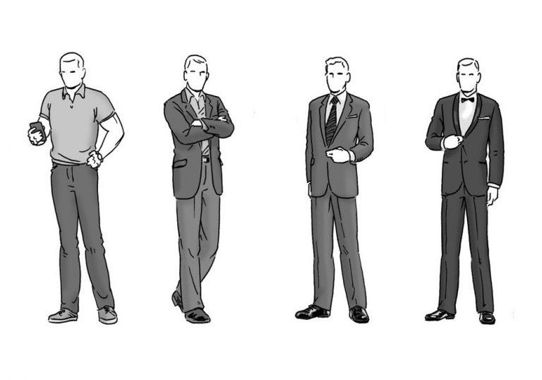trajes sociais