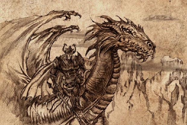 Uma ilustração de Aegon, o Conquistador