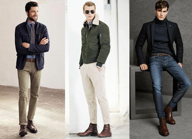 """6ff8f9cf5 Pelo contrário: esta é uma das maiores tendências da moda masculina,  especialmente nos meses frios. A bota é capaz de transformar looks  """"bonitos"""" ..."""