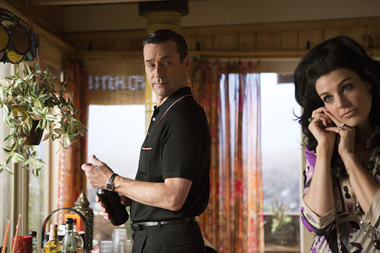Jon Hamm as Don Draper and Jessica Pare as Megan Draper - Mad Men _ Season 7, Episode 5 - Photo Credit: Justina Mintz/AMC