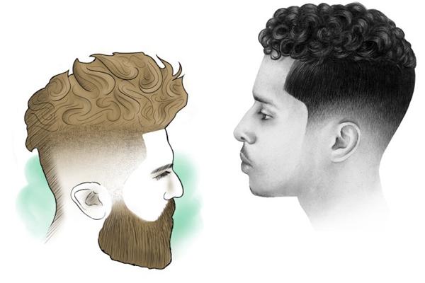 corte de cabelo masculino curly top