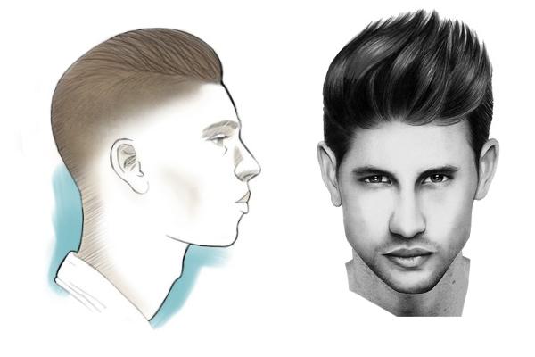 corte de cabelo masculino quiff