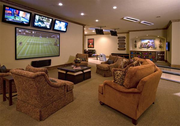 19 man caves incr veis para te inspirar na hora de fazer for Como jogar modern living room escape