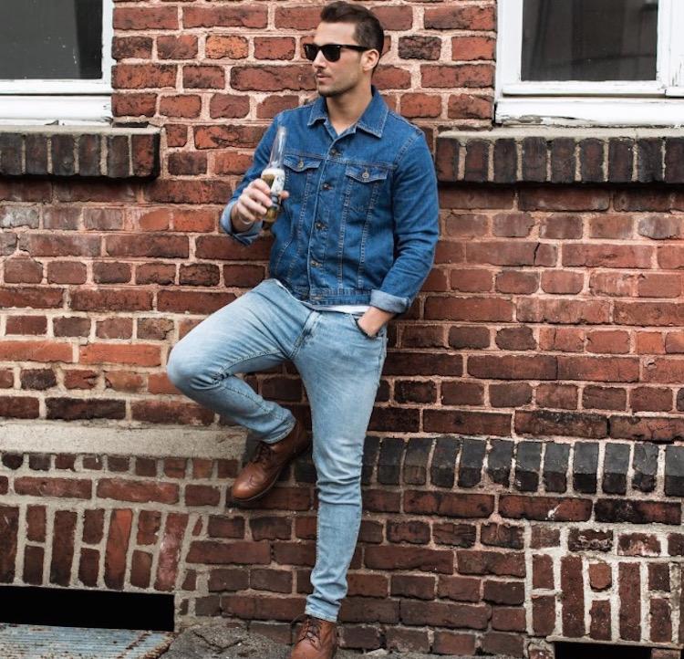jeans com jeans masculino