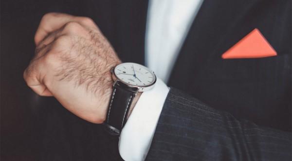 relógio masculino social de couro