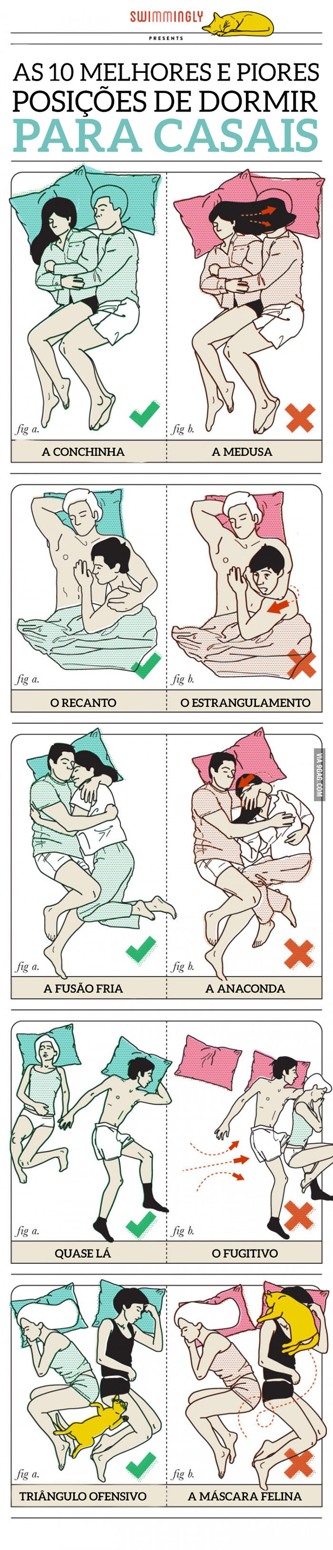 posições dormir casal