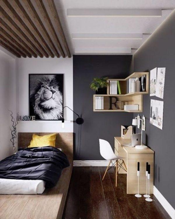 Bedroom Rendering Bedroom Ceiling Uplighters Childrens Bedroom Wallpaper Bedroom Black White: 54 Ideias De Quartos Masculinos Para Se Inspirar