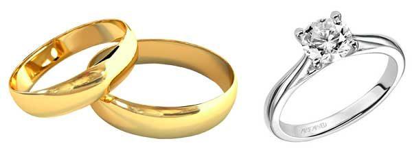 anel de noivado aliança