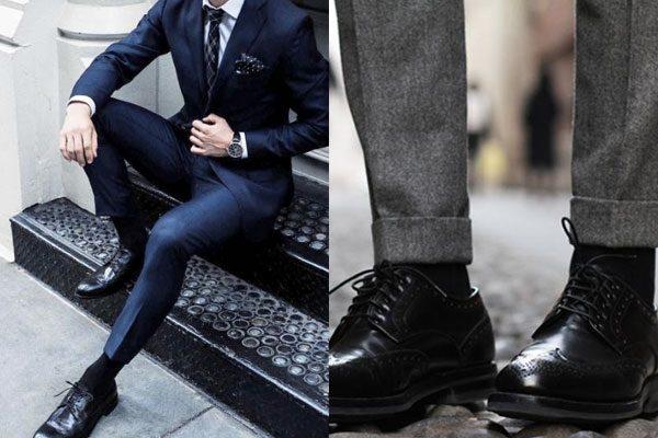 27560e54c Agora vamos pensar o seguinte. Ao escolher um sapato e uma calça, você vai  combinar as cores de ambos, correto? Então se você usar uma meia e sapato  de cor ...