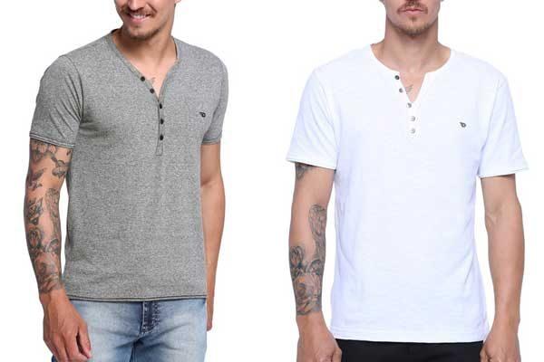 Onde comprar camiseta Henley masculina  9 dicas de lojas online - El ... 9e0296d3d383e