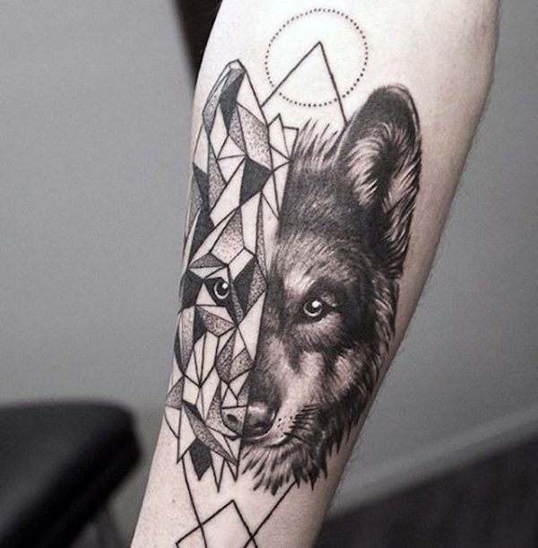 Tatuagens no Braço Lobo