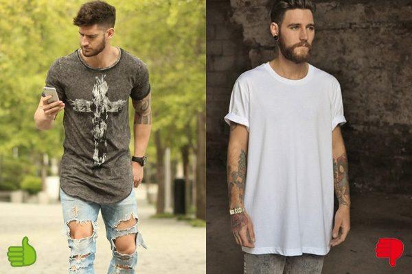 a7fb070f8 Camiseta longline masculina  5 dicas para usar - El Hombre