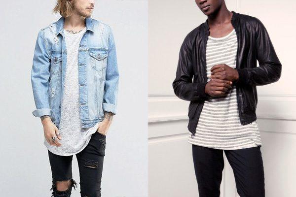 Camiseta longline masculina