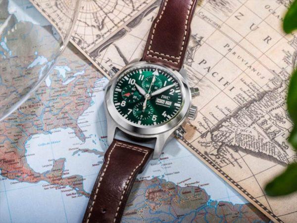 relógio masculino casual de couro aviador