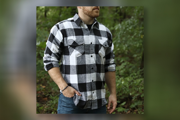 Camisa xadrez de flanela