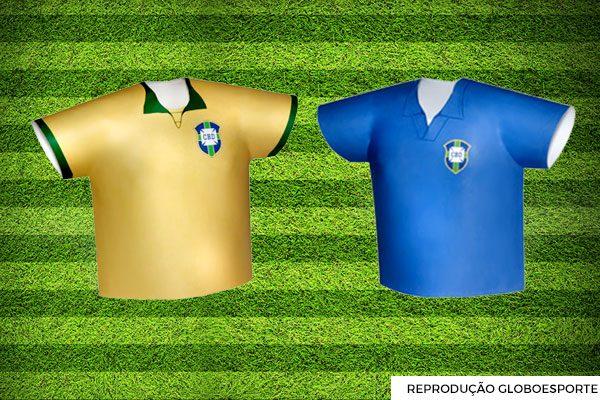 2aeeb435da De 1930 a 2018  a evolução da camisa do Brasil nas Copas - El Hombre