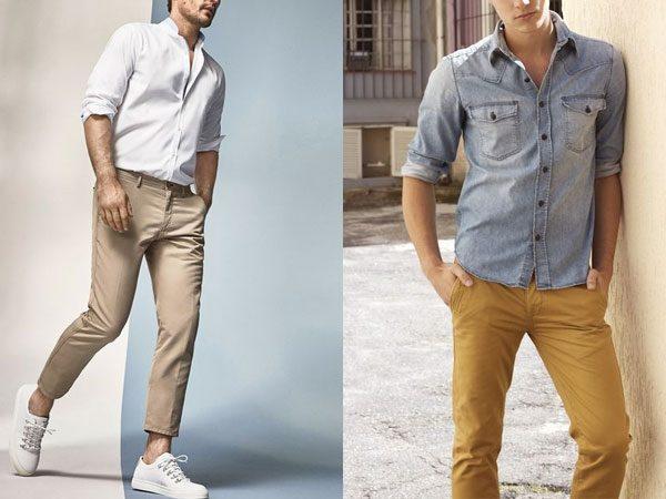 calça chino masculina