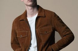 jaqueta de camurça masculina