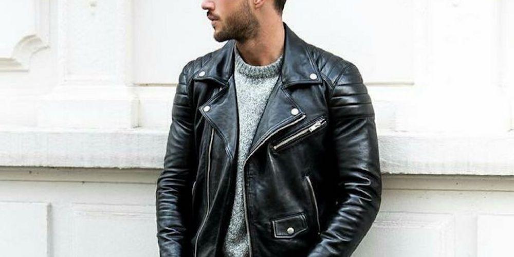 jaqueta de couro masculina 0