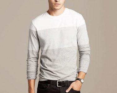 camiseta de manga comprida masculina