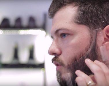 régua de barba pente molde