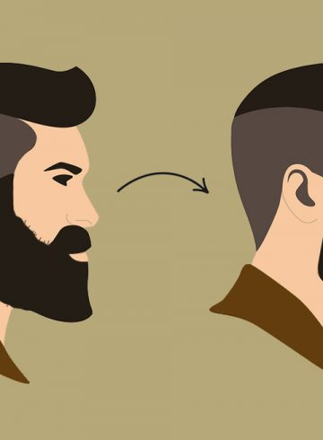 contorno barba
